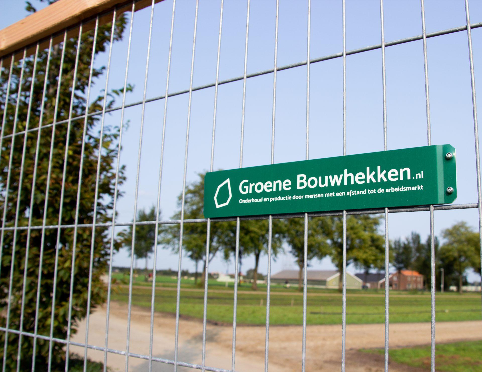 logo Groene Bouwhekken op bordje