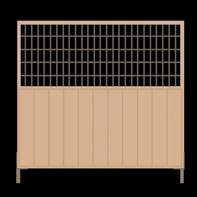 circulair houten bouwhek