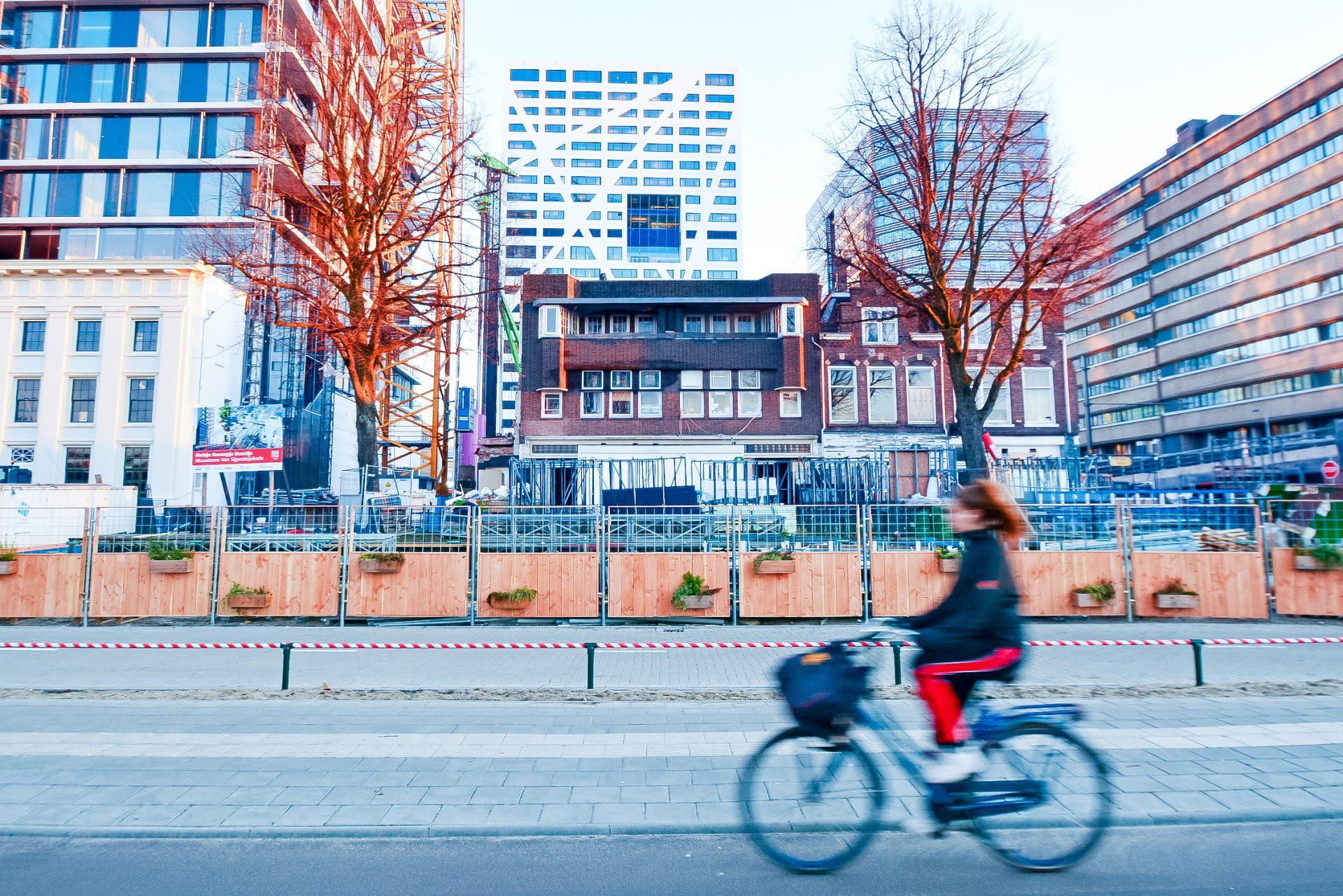 Groene Bouwhekken bij Utrecht Centraal