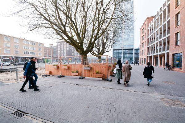 Groene Bouwhekken aan Bos en Lommerweg Amsterdam