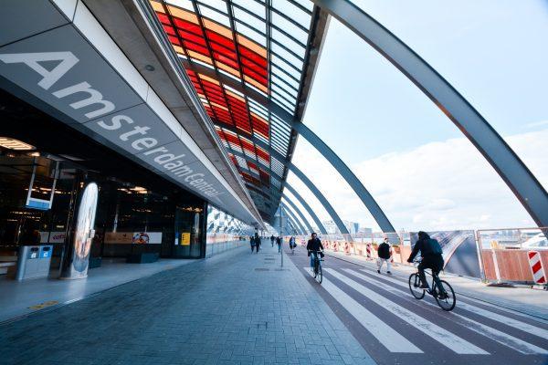 Groene Bouwhekken bij IJboulevard Amsterdam